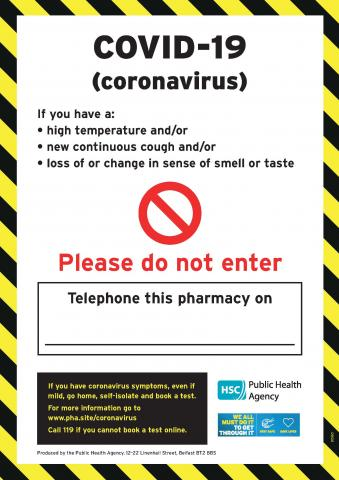 Pharmacy advice poster