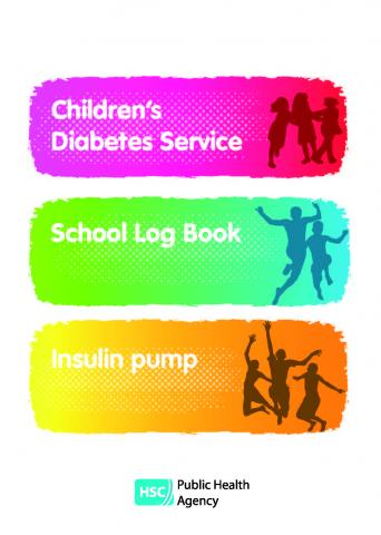 Cover of diabetes log book for insulin pumps