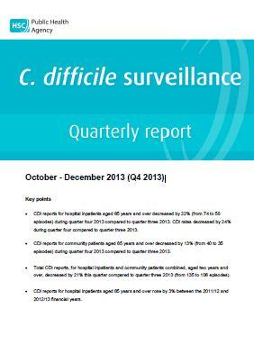 C. difficile and S.aureus bacteraemia surveillance quarterly reports