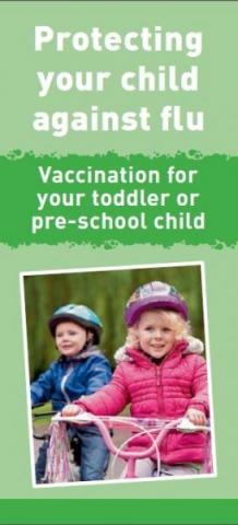 Protecting your child against flu: Vaccination for your toddler or pre-school child (English and translations)