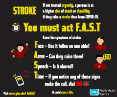 Act FAST  information of signs  and symptoms of stroke