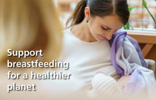 Picture of a woman breastfeeding